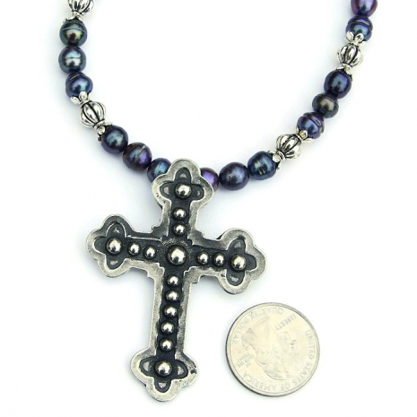 budded cross jewelry for women gift idea