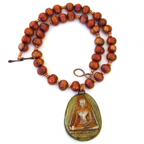 buddha pendant necklace gift for women