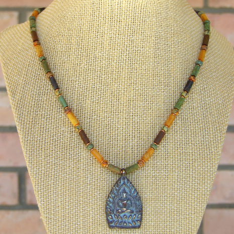 buddhist shakyamuni buddha jewelry with unalome symbol