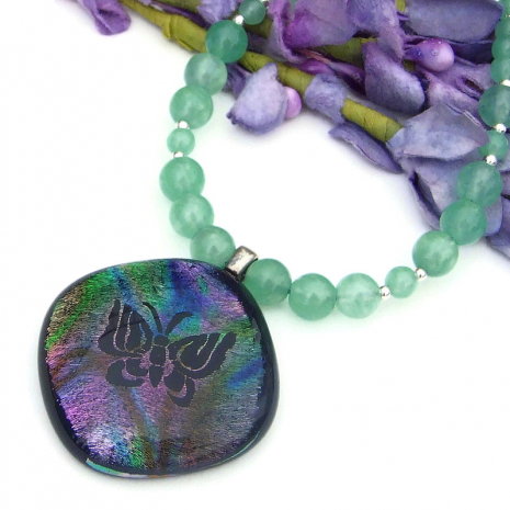 butterfly and gemstone handmade jewelry