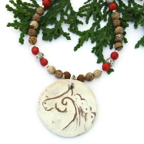 celtic horse necklace.