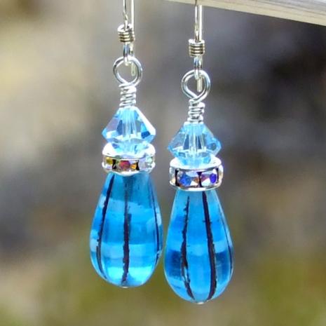 capri blue melon teardrop jewelry gift for women