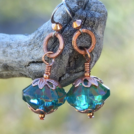 Handmade earrings gift idea for women.