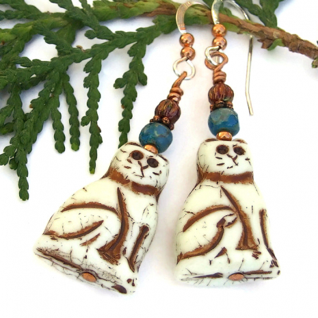 cat dangle jewelry gift for her