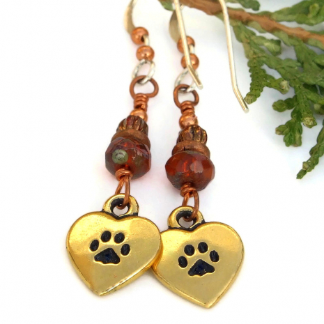 cat lover heart jewelry