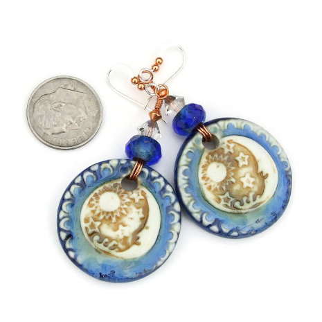 celestial handmade earrings gift