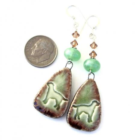 ceramic dog earrings for women