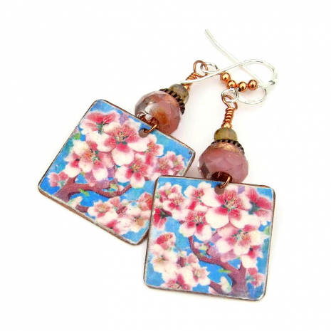 cherry blossom handmade jewelry gift for women