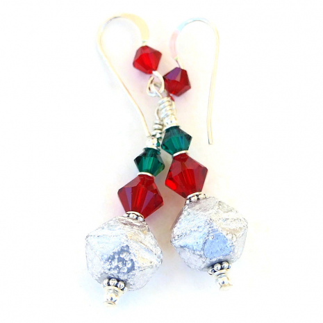 christmas holiday earrings gift for women