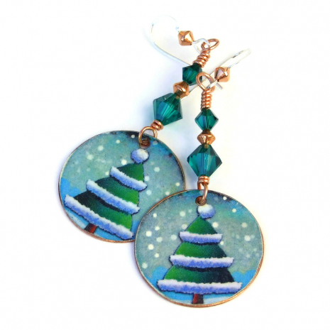christmas tree jewelry gift for women