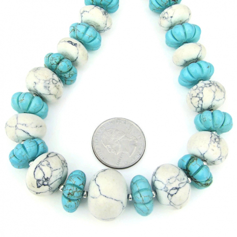 chunky magnesite jewelry gift for her