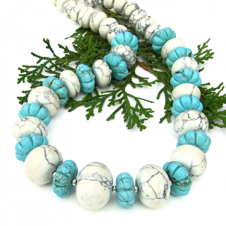 chunky magnesite necklace gift for her