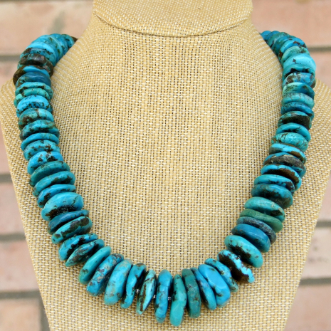 chunky turquoise necklace gift for women