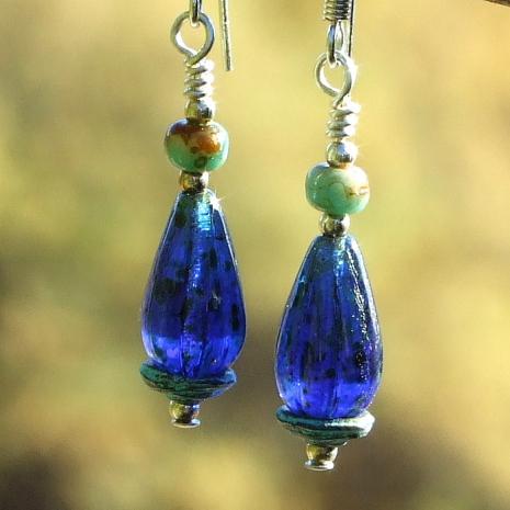 cobalt blue teardrop jewelry gift for women