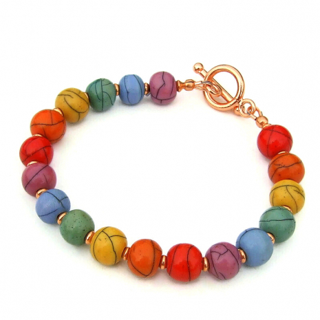 colorful dyed acrylic handmade jewelry