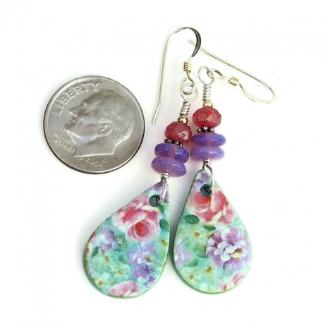floral polymer clay dangle jewelry for her