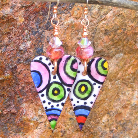 colorful hearts valentines jewelry gift for women