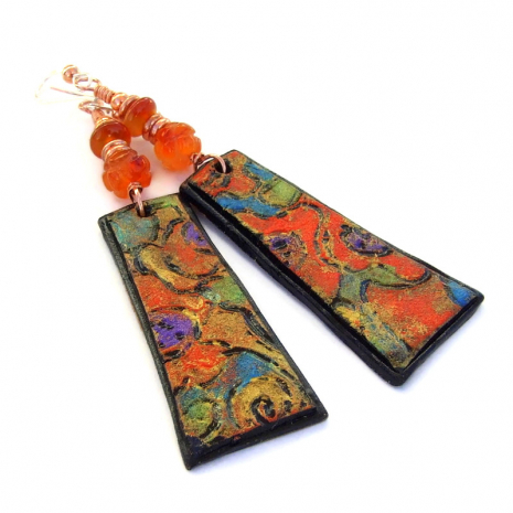 colorful polymer clay handmade jewelry gift for women