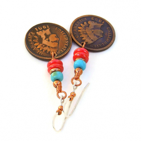 copper indian head penny jewelry