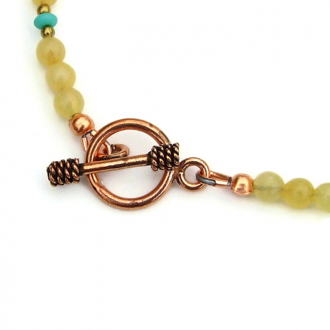 copper toggle clasp set