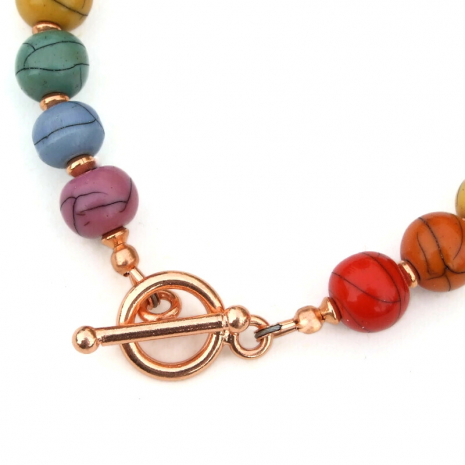 copper toggle clasp set finishes handmade bracelet