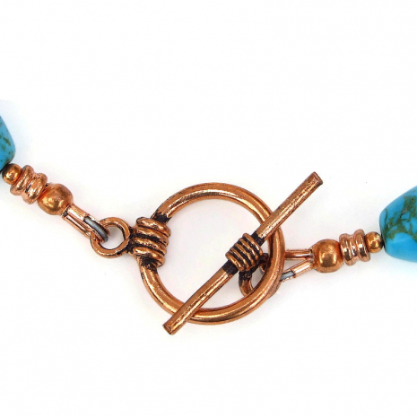 copper toggle clasp set finishes the dog lover necklace