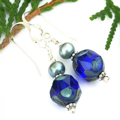 Handmade earrings, jewelry gift idea.