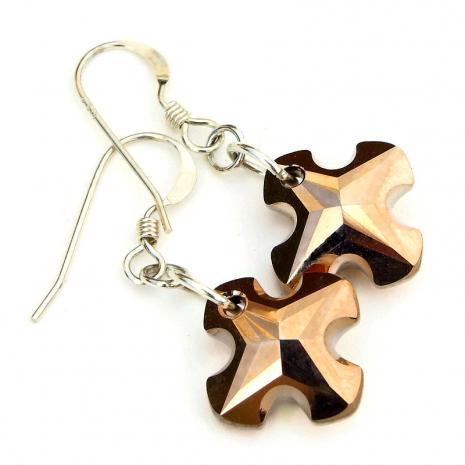 cross jewelry swarovski crystal gift for women