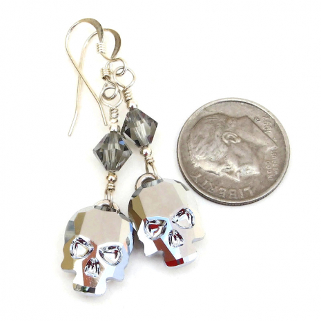 crystal light chrome swarovski skull jewelry