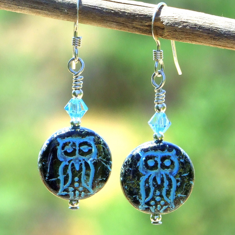 cute hoot owl jewelry gift for women