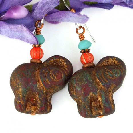 unique elephant jewelry gift idea for her