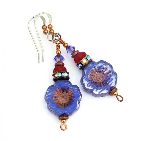 purple flower jewelry