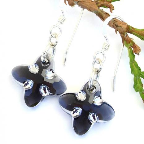 swarovski tribal cross earrings