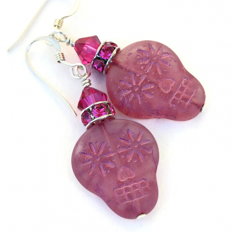 day of the dead sugar skull jewelry gift for women