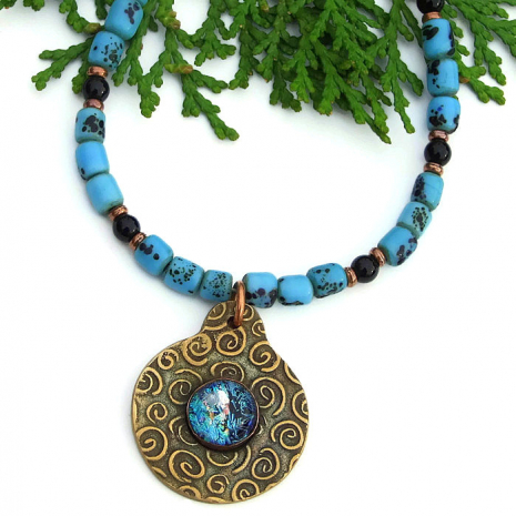 spiral pendant necklace gift for women