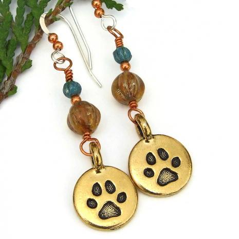 dog best friend paw print jewelry