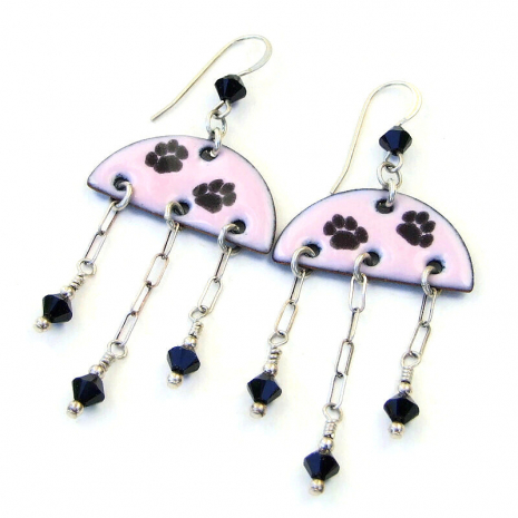 dog cat paw print jewelry gift for women