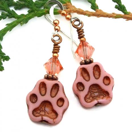 dog cat rescue earrings for animal lover