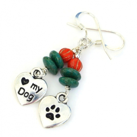 dog earrings gift for her