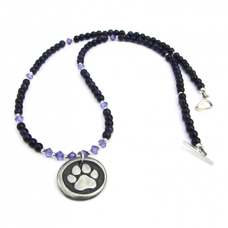 dog footprint rescued pendant necklace gift for women