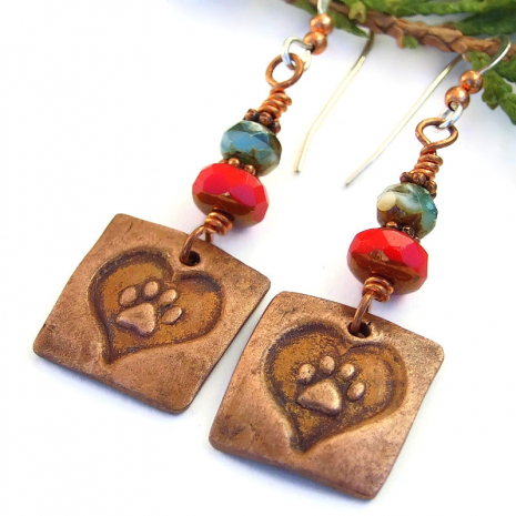 dog lover cat lover handmade earrings