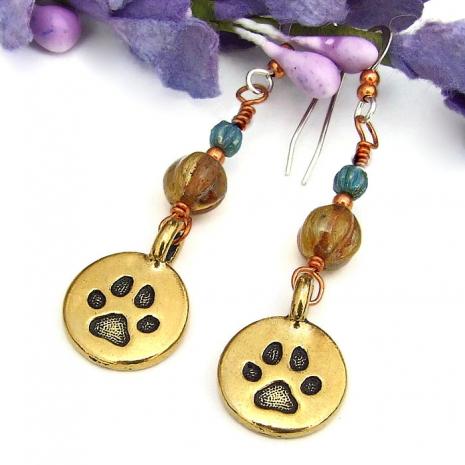 dog lover dangle earrings gift for women