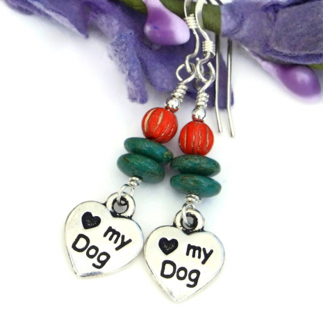dog lover dangle jewelry handmade