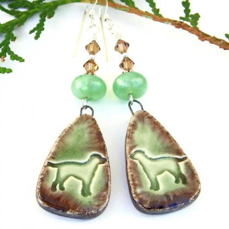 dog lover earrings gift for her