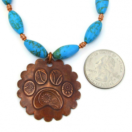 dog lover paw print pendant jewelry gift for women