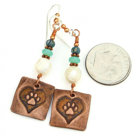 paw print and heart dog jewelry