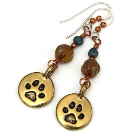 dog paw print jewelry gift for women