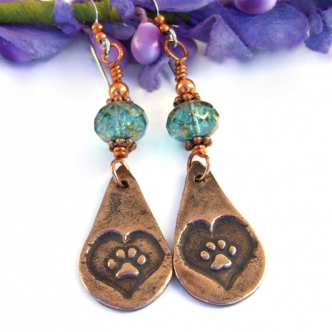 dog rescue earrings