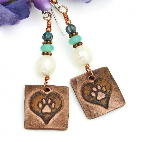 dog rescue earrings for her gift idea