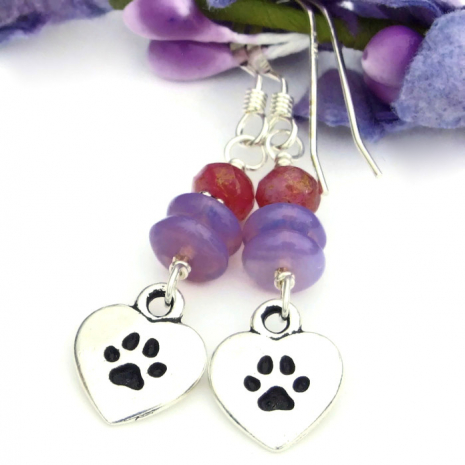 dog paw print jewelry for women